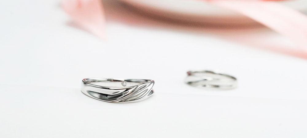 Обручальное кольцо классика в платине