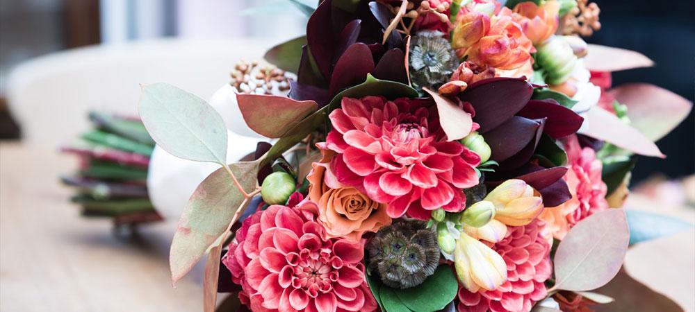 Осінній весільний букет