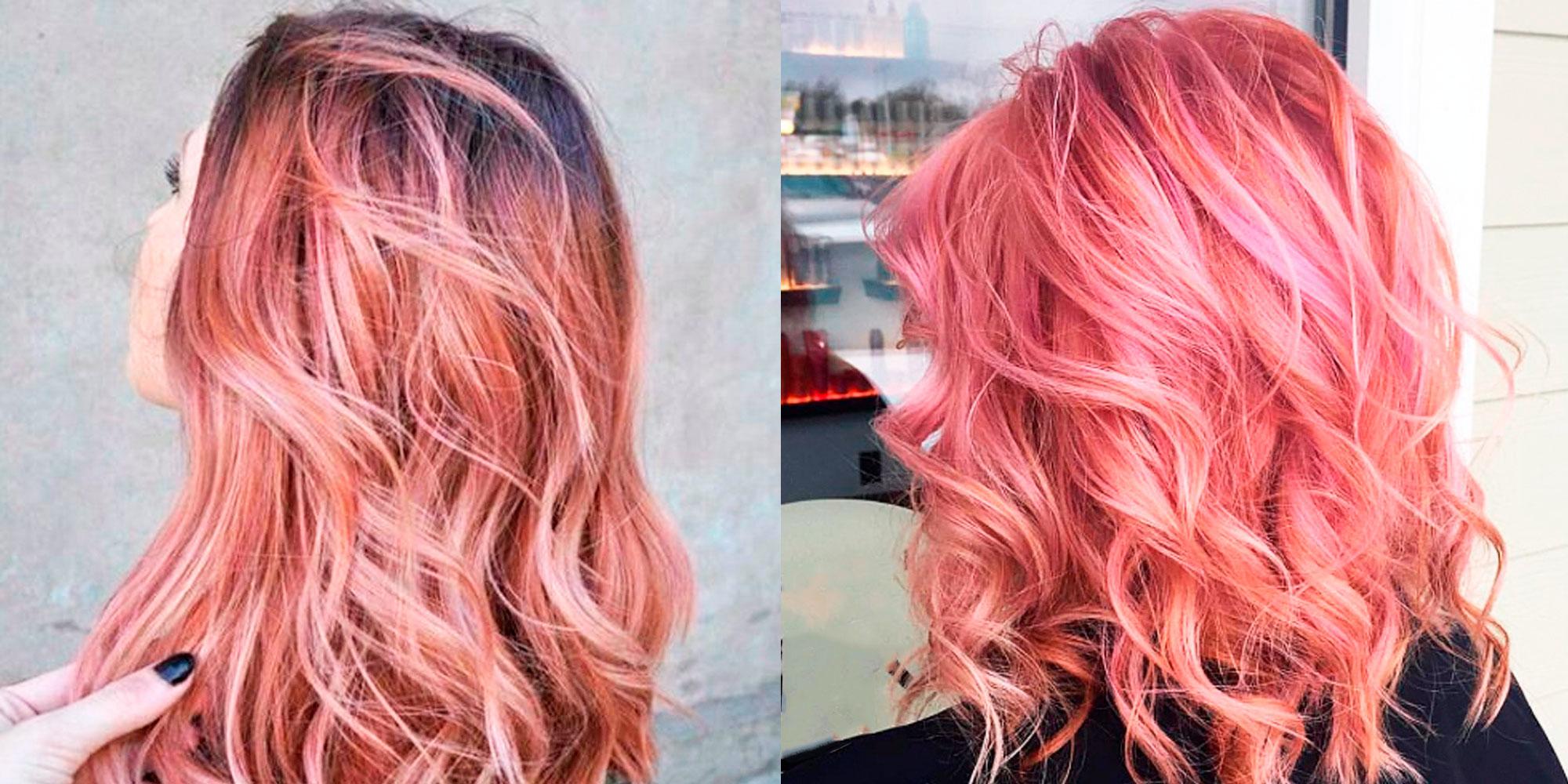 розовое золото цвет волос