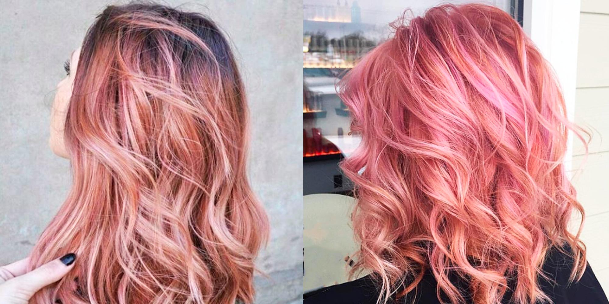 рожеве золото колір волосся