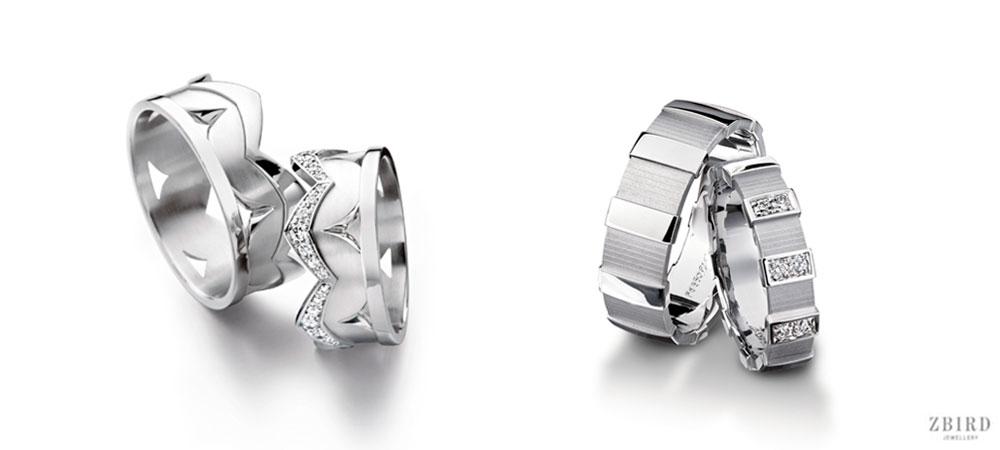 """Обручальное платиновое кольцо """"корона"""" стилизованное"""