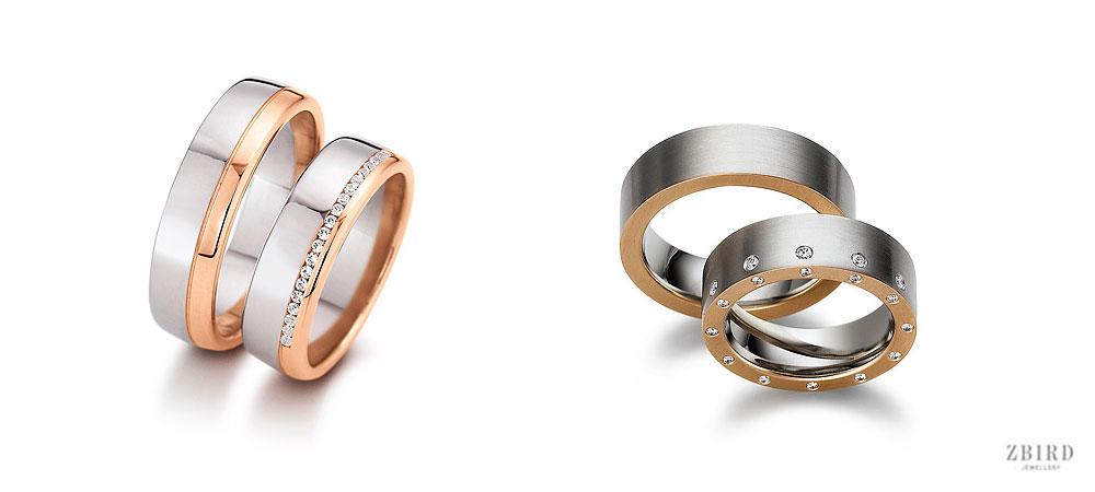 Обручальное кольцо комбинированное