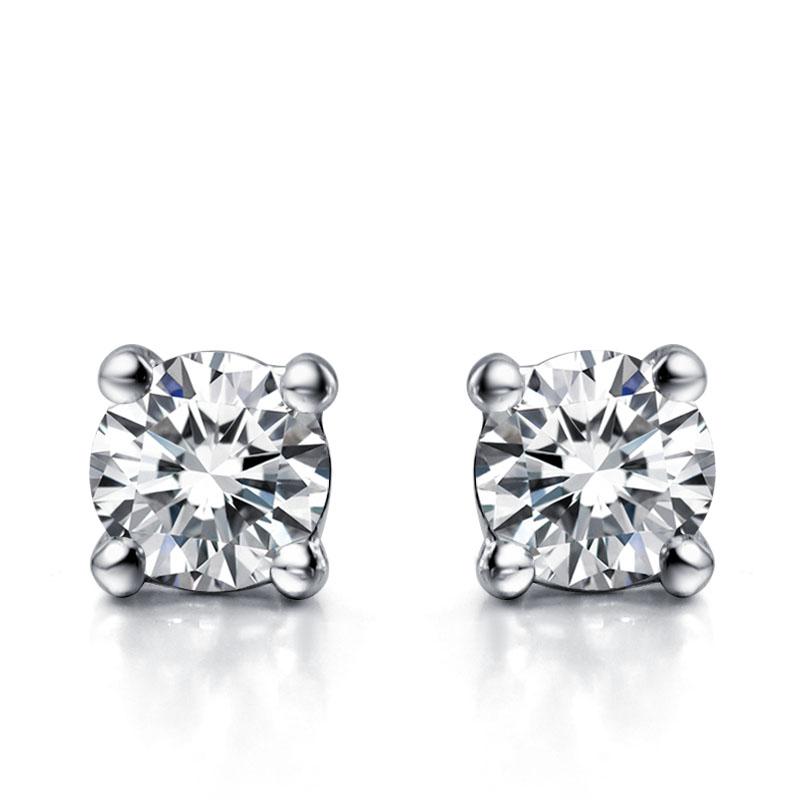 Купить серьги гвоздики с бриллиантами