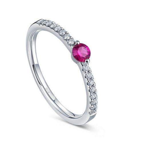 Купити Каблучка рубін з діамантами RDQ89 у Києві за найкращими ... 51905d2f8ea7a