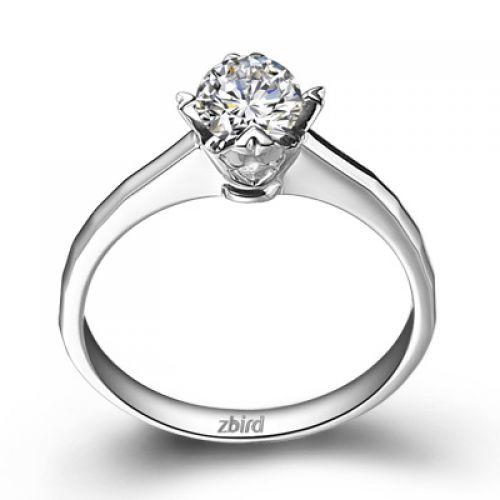 Купить кольцо для помолвки Eternity с бриллиантом 0,17 карат - Zbird b8d561a47d7